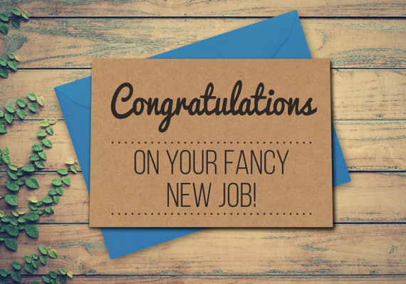 Employment card new job card congratulations on your fancy new etsy image 0 m4hsunfo
