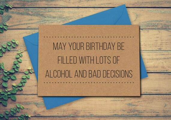 Lustige Geburtstagskarte 18. Karte Alkohol Karte Mai Ihren | Etsy