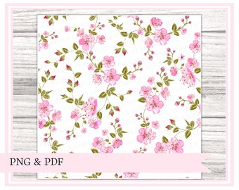 PRINTABLE vellum, Cherry blossoms || perfect for snail mail, happy mail, swaps, penpals, travelers notebooks, journaling, planners etc.