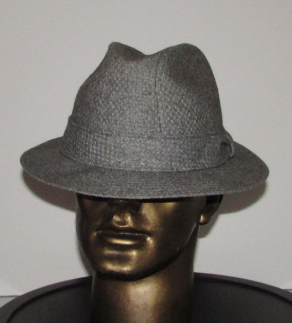 fca535bb2fb Vintage beautiful light graywool stetson mallory men hat