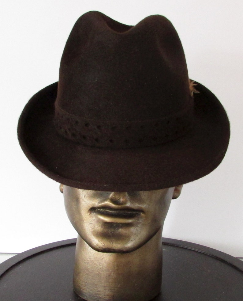4d51671ab Vintage beautiful brown felt wool biltmore luxuro men hat/ | Etsy