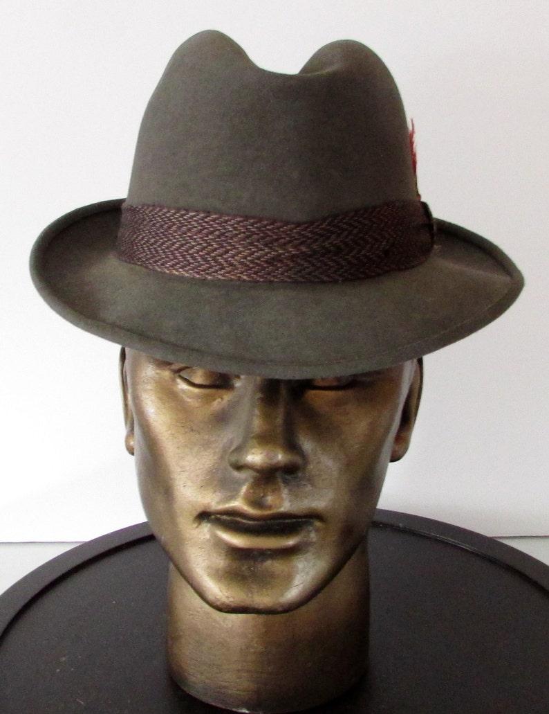 d0a3da8f Vintage beautiful gray felt wool biltmore rideau men hat/ Joli chapeau  homme en feutre laine biltmore rideau sz 6 3/4