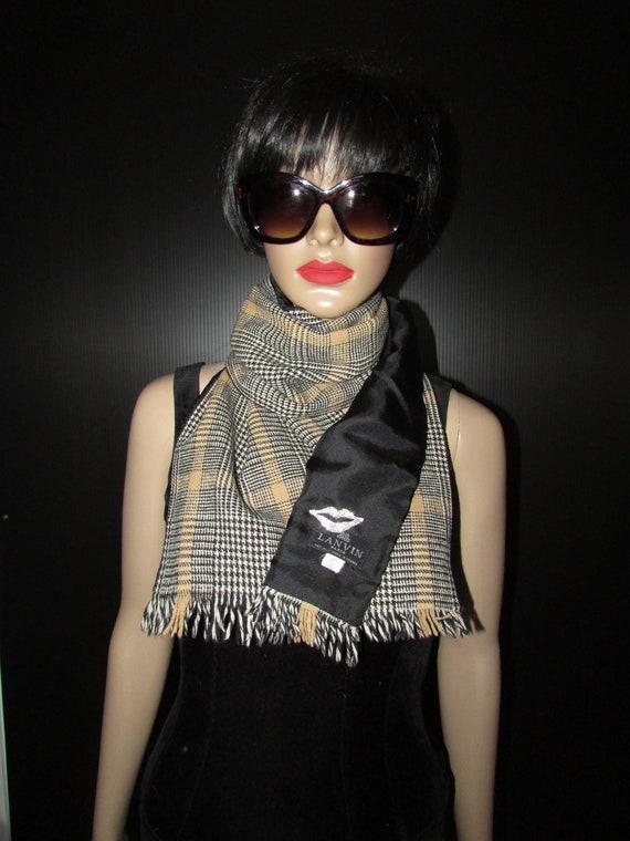 Vintage superb Lanvin Paris wool/silk scarf /Super