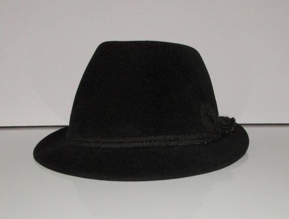 1b650147 Vintage beautiful black velvet biltmore men hats/ Joli chapeau homme de  velours noir biltmore small