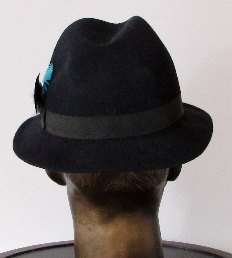 7f6002dc Vintage beautiful navy felt wool biltmore senator men hat/ Joli chapeau  homme en feutre laine marine biltmore senator sz 7 1/8 57cm