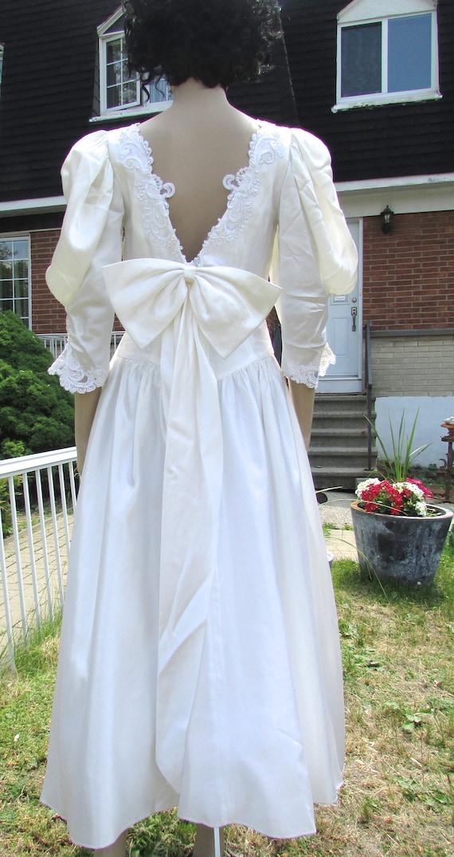 vintage  superbe retro white wedding dress bridesm