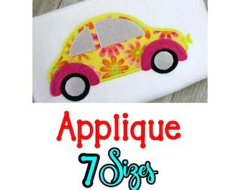 Volkswagen Bug Applique Design, volkswagen bug Embroidery Designs, Embroidery Applique design vw bug, vw bug machine embroidery, 7 Sizes