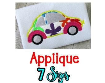 Volkswagen Bug Embroidery Design, Volkswagen Bug Applique, Machine Embroidery, Love Bug Embroidery Design, Beetle Embroidery Design, 7 Sizes