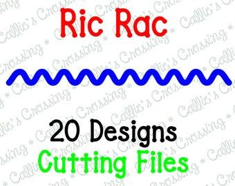 Ric Rac Cutting File, Rick Rack Cutting File, Ric Rac SVG File, Rick Rack SVG File, Ric Rac Embellishment, Rick Rack Embellishments, Ric Rac