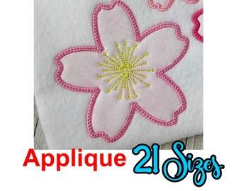 Cherry Blossom Applique Embroidery Design, Cherry Blossom Applique, Cherry Blossom Embroidery Design, Flower Embroidery Design, Flowers, 21