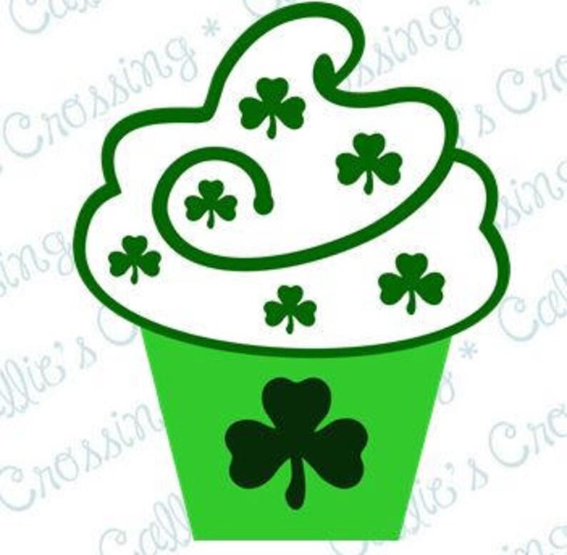 St Shamrock Clover Green Clover Shamrock Cupcake SVG CUTTING File Patrick/'s Day,Cricut Cutting File