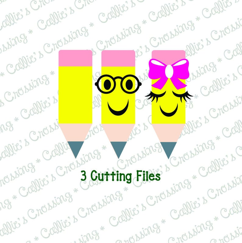 Back to School Cut Files School Cutting Files Pencil SVGs Pencil Cutting Files Pencil Svg Cutting File Pencil Cut Files School Svgs
