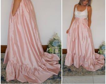 781c4b53e Wedding skirt / bridal skirt / ballgown skirt with ruffle hem / wedding  dress separates / luxury skirt / vintage style / Ruffle Tia / train