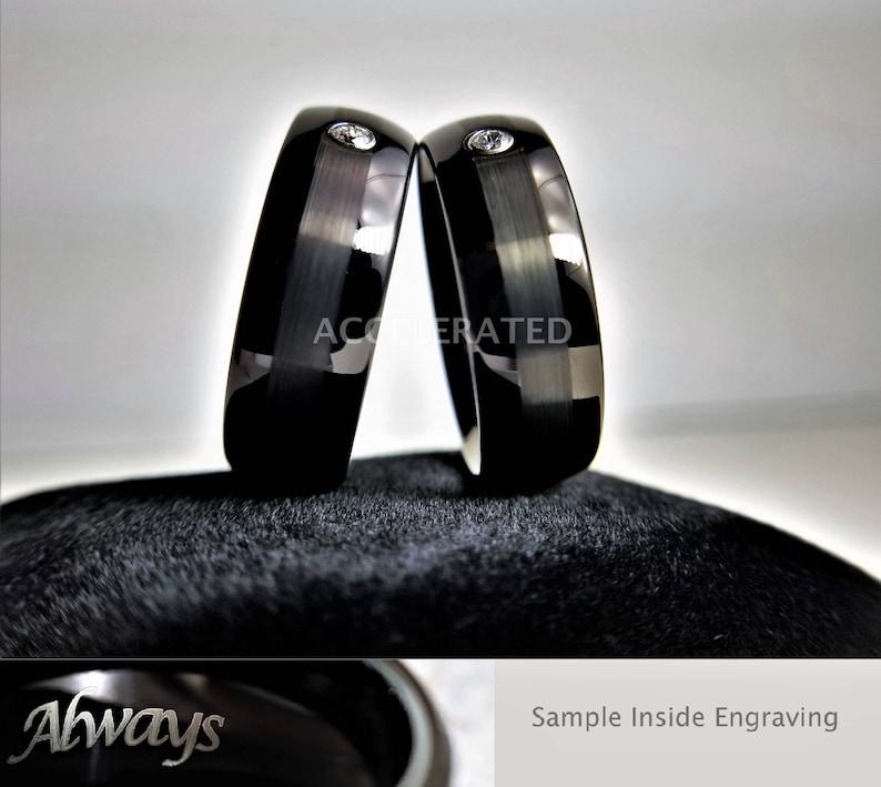 Men/'s Black Wedding Band Men/'s Tungsten Ring Men/'s Tungsten Wedding Band Personalized Ring Tungsten Band Black Tungsten Ring