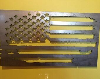Vintage American Flag-steel