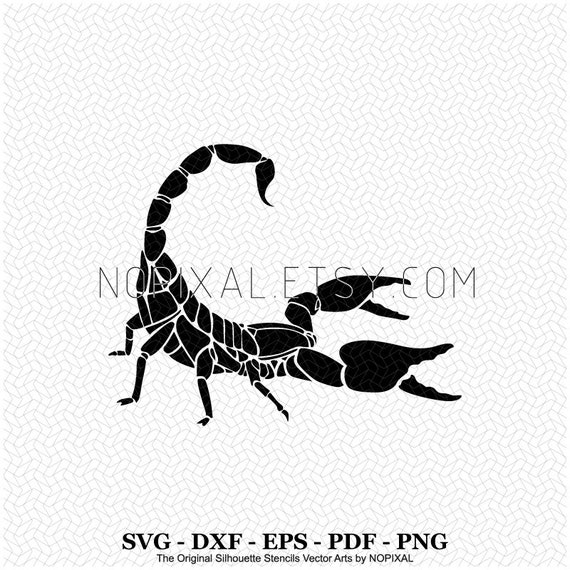 Svg Scorpion Side View Silhouette Stencils Vector Arts For Etsy