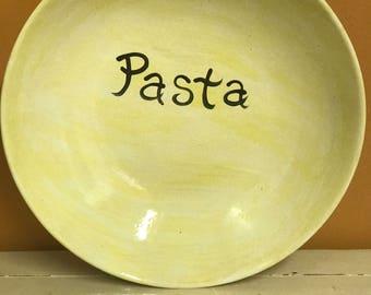 Large Ceramic Pasta Bowl