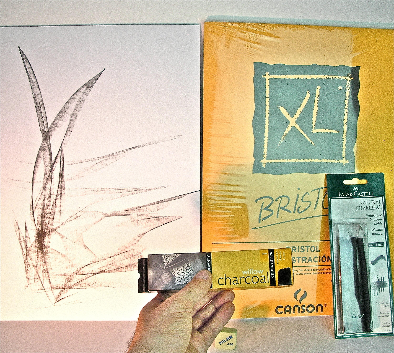 Modern charcoal drawing original wall art unframed artwork cheap ...