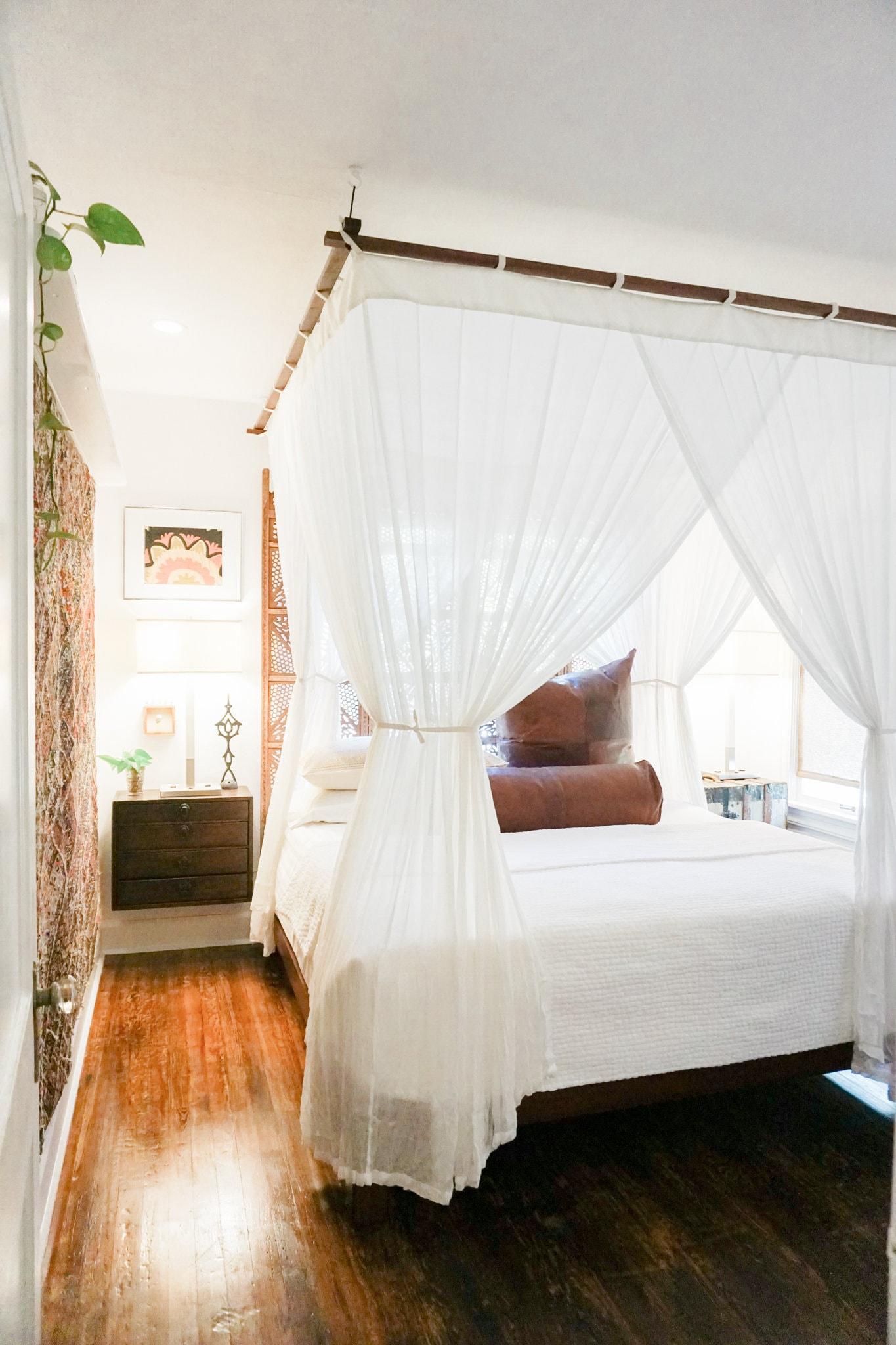 ARTAYASA // Bed Canopy Hanging Luxury Cotton Mosquito Net