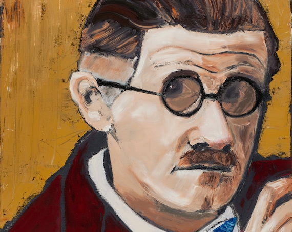 James Joyce--9x12 Hand-Numbered Print