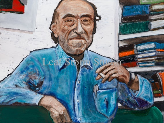 Charles Bukowski--9x12 Hand-Numbered Print