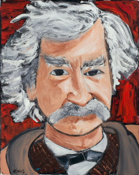 Mark Twain--8x10 Hand-Numbered Print