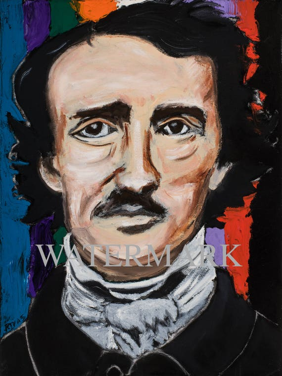 Edgar Allan Poe--9x12 Hand-Numbered Print