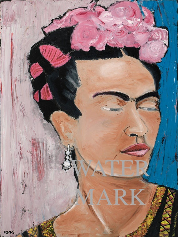 Frida Kahlo--9x12 Hand-Numbered Print