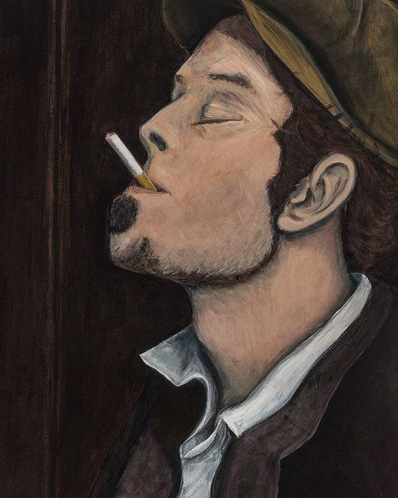 Tom Waits--8x12 Hand-Numbered Print