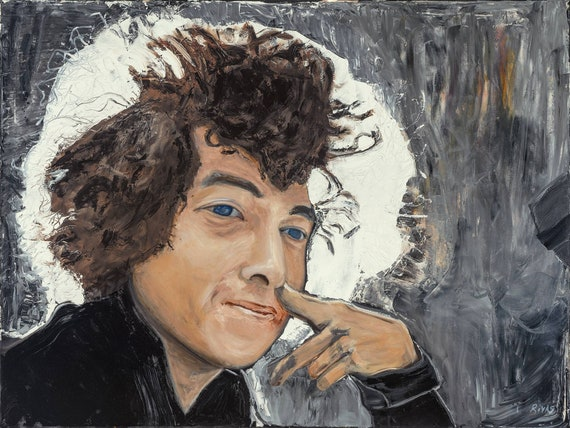 Bob Dylan 9x12 Hand-Numbered Print