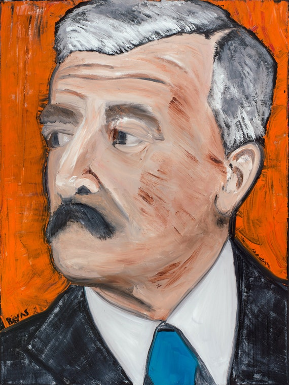 William Faulkner--9x12 Hand-Numbered Print