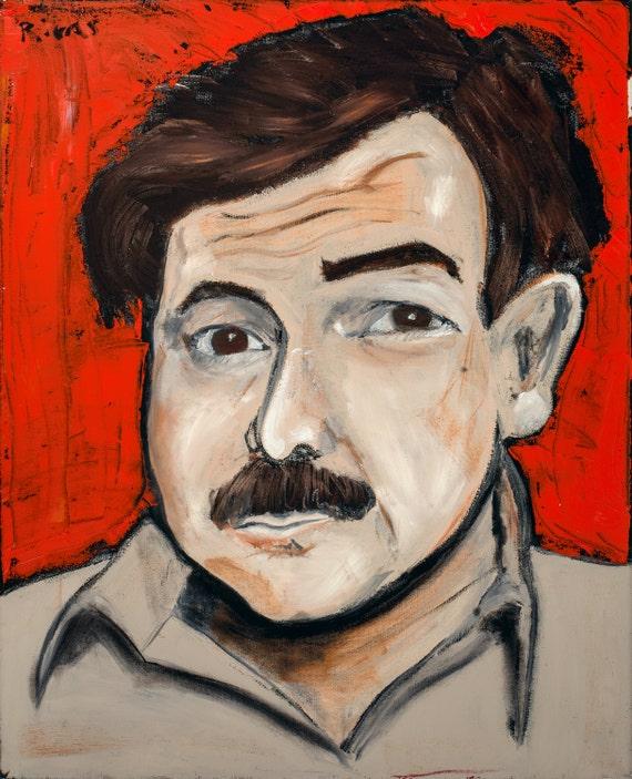 Ernest Hemingway--8x10 Hand-Numbered Print
