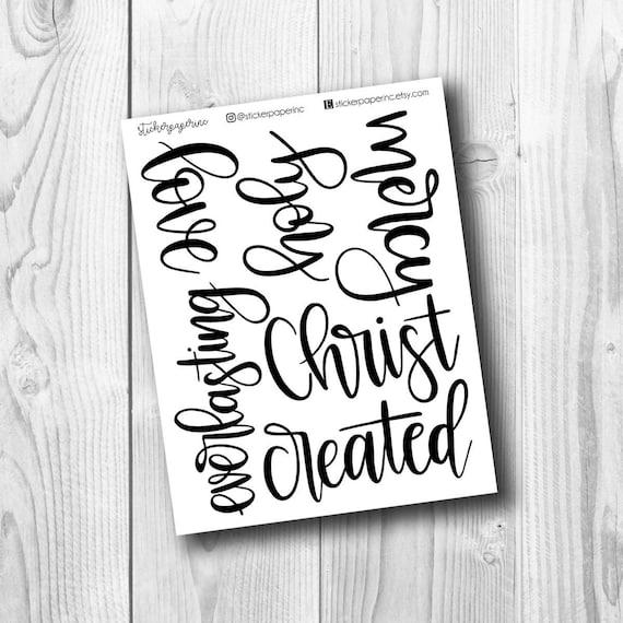 Bible Journaling Printable | Handwritten Words | Digital Download |  Printable for Bible Journaling | Bible Journaling Text | PDF | Print