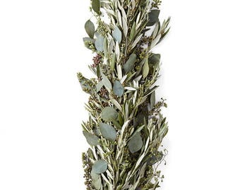 Olive And Seeded Eucalyptus Garland