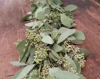 Freshly Harvested Seeded Eucalyptus Garland, Seeded Eucalyptus, Wedding Garland, Real Garland, Fresh Greens Garland, Wedding Decor