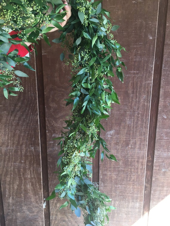 Italian Ruscus And Seeded Eucalyptus Garland