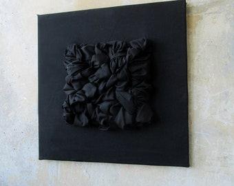 Contemporary Woven Wall Abstract Weaving Blue, Black, Contemporary wall art , Textile artwark, Original art wark, Textile art Woven artwork