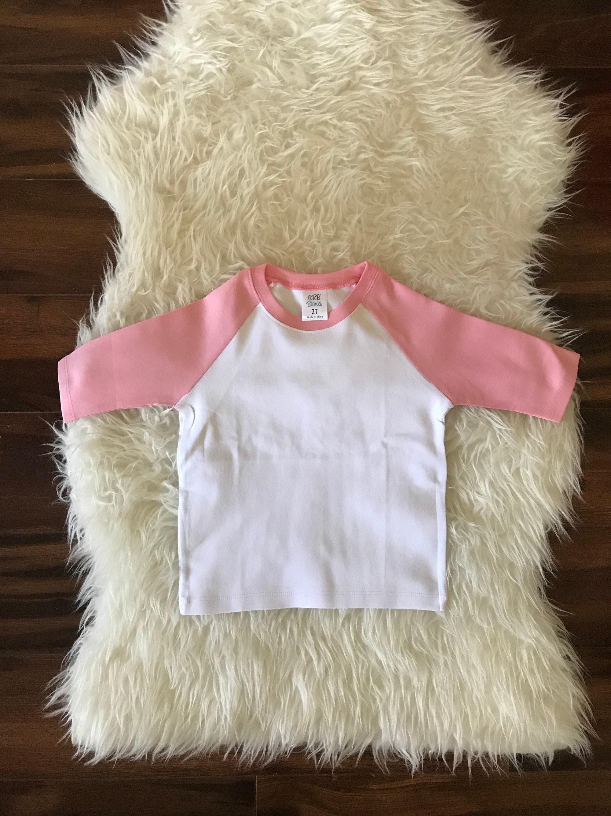 Embroidery Blanks Htv Blanks Blank Raglan Shirt Girl Raglan Etsy
