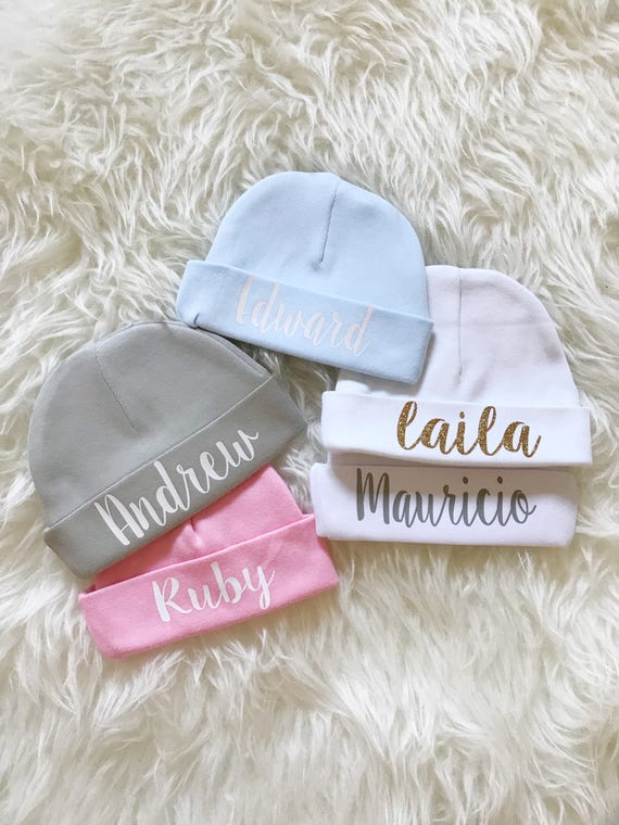Baby beanie with name Personalized Newborn baby beanie name  1abff2d25ab