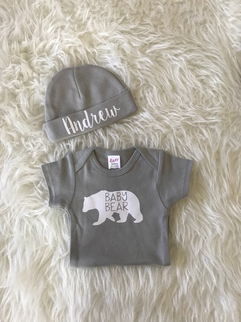 8745c1024 Newborn unisex baby outfit baby bear baby boy coming home