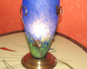 French glass Table lamp