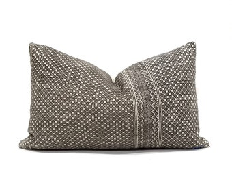 """14.5""""×24"""" muted brown Chinese wedding blanket pillow cover"""