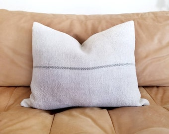 Various sizes hemp grainsack pillow cover