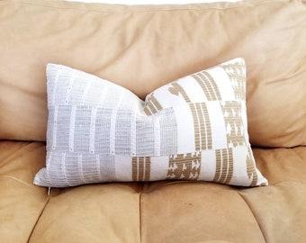 """12""""×20"""" Aso oke pillow cover, yoruba pillow, African mudcloth pillow"""