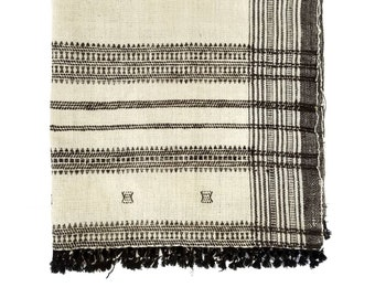 Embroidered Indian wool throw
