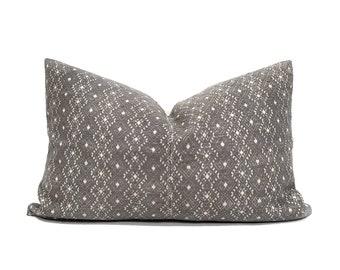 "17""×25.75"" XL lumbar grey Chinese wedding blanket pillow cover"