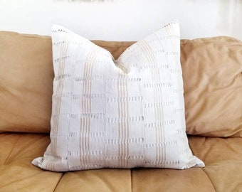 "DISCOUNTED 20"" Aso oke pillow cover"