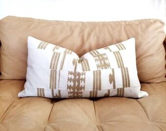 """13.5""""×25.5"""" Aso oke pillow cover"""