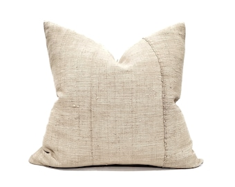 """22"""" beige fireweed Chinese hemp linen pillow cover"""