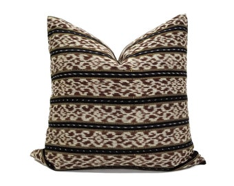 Indonesian ikat pillow cover in various sizes